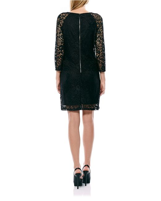 Laundry by Shelli Segal | Black Lace Sheath Dress | Lyst