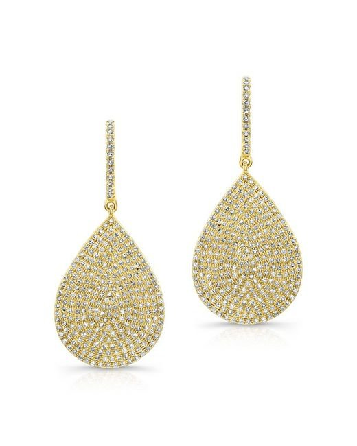 Anne Sisteron | 14kt Yellow Gold Diamond Large Pear Shaped Earrings | Lyst