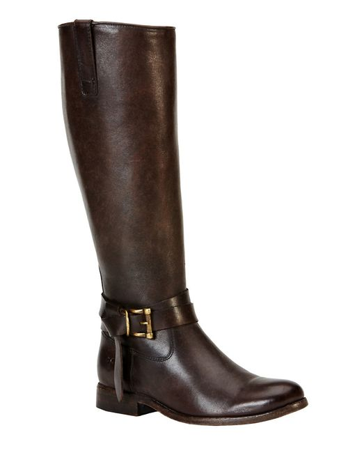 Frye | Brown Melissa Leather Knee High Boots | Lyst