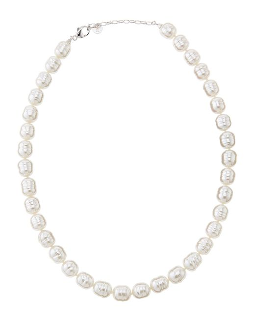 Majorica | White Faux-pearl Cylinder Collar Necklace | Lyst