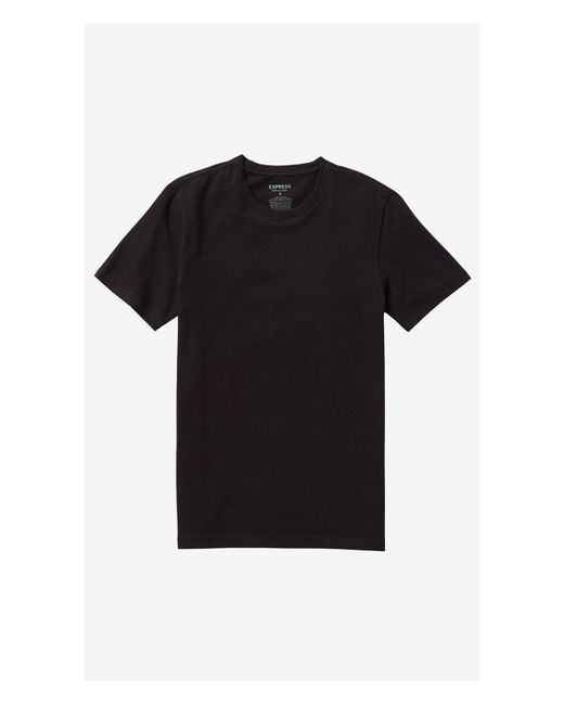 Express | Black Stretch Cotton Crew Neck Tee for Men | Lyst
