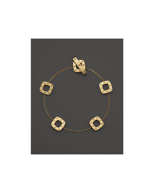 Roberto Coin | Metallic 18k Yellow Gold Pois Moi Square Station Bracelet | Lyst