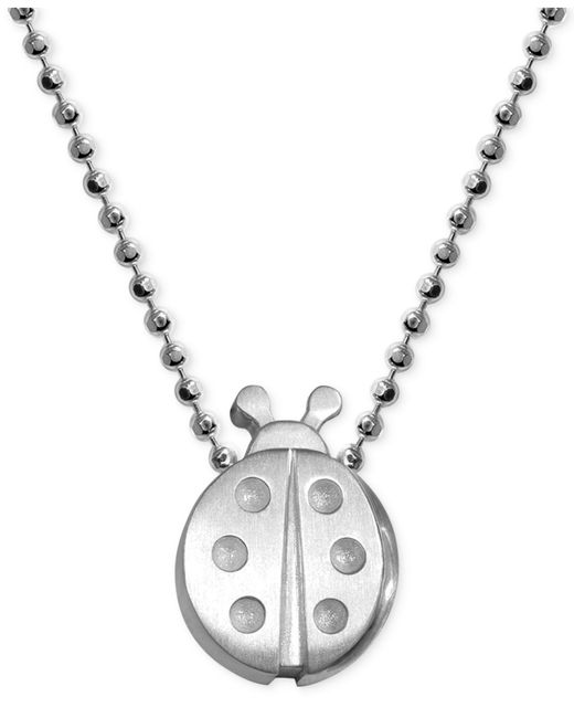 Alex Woo | Metallic Little Faith Ladybug Pendant Necklace In Sterling Silver | Lyst