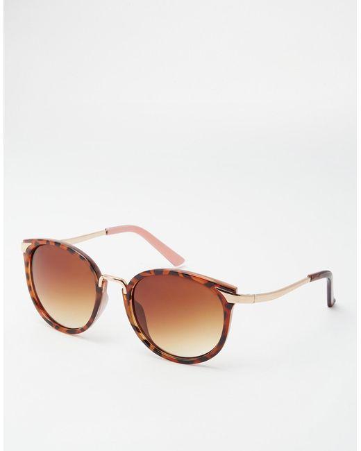 Asos Cat Eye Sunglasses With Metal Nose Bridge