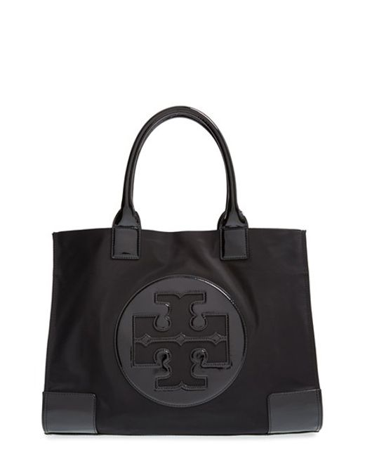 Tory Burch | Black 'ella' Nylon Tote | Lyst