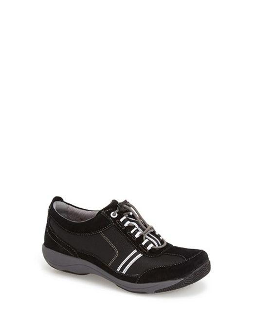 Dansko | Gray 'helen' Suede & Mesh Sneaker | Lyst