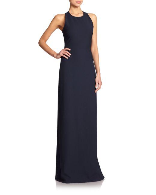Elizabeth and James | Blue Freya Cutout-back Column Dress | Lyst