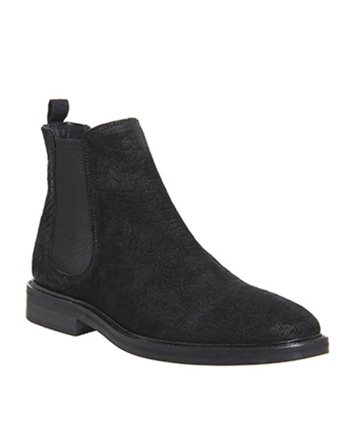 office crunch chelsea boots in black for lyst