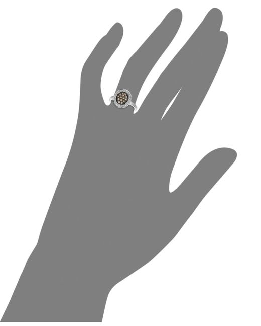 Le Vian | Brown Diamond Chocolate And White Diamond Oval (3/8 Ct. T.w.) In 14k White Gold | Lyst