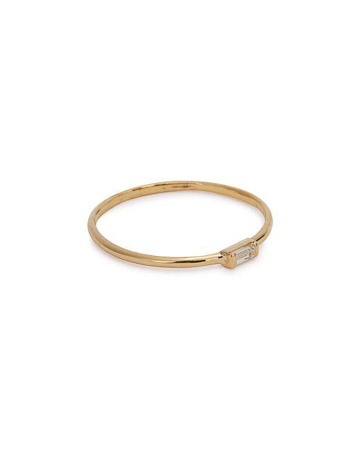 Catbird | Metallic Diamond Baguette 14kt Gold Ring | Lyst