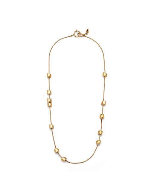 Diane von Furstenberg | Metallic Geometric Cube Long Station Necklace | Lyst