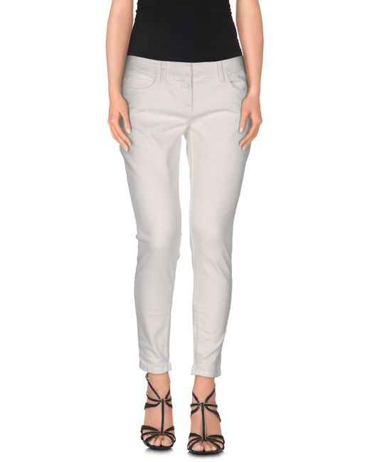 Faith Connexion | White Denim Trousers | Lyst