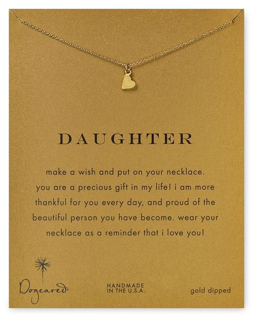 Dogeared | Metallic Daughter Heart Pendant Necklace, 18"