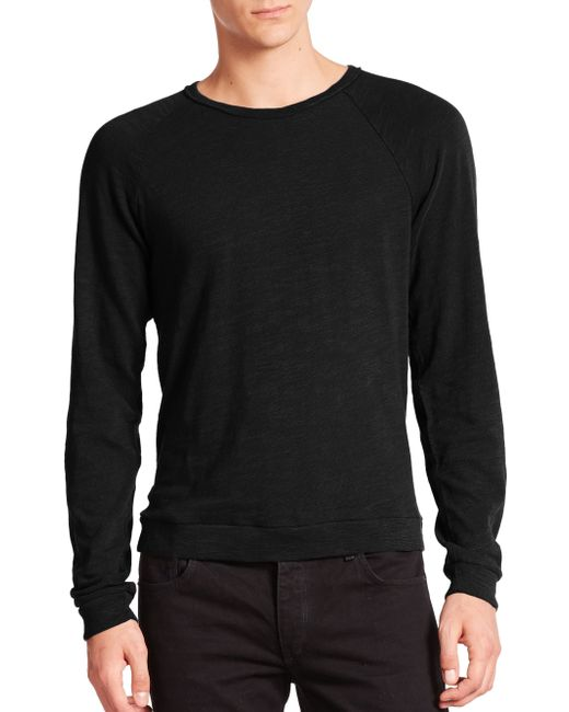 Rag & Bone | Black Standard Issue K-long Sleeve Raglan Tee for Men | Lyst