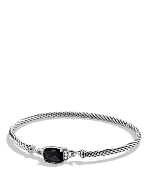 David Yurman | Petite Wheaton Bracelet With Black Onyx And Diamonds | Lyst