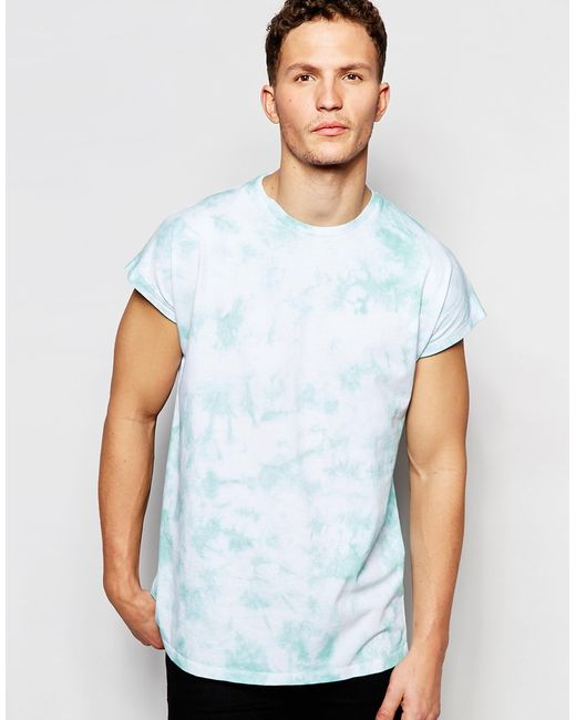 Asos oversized sleeveless t shirt with tie dye and back for Tie dye sleeveless shirts