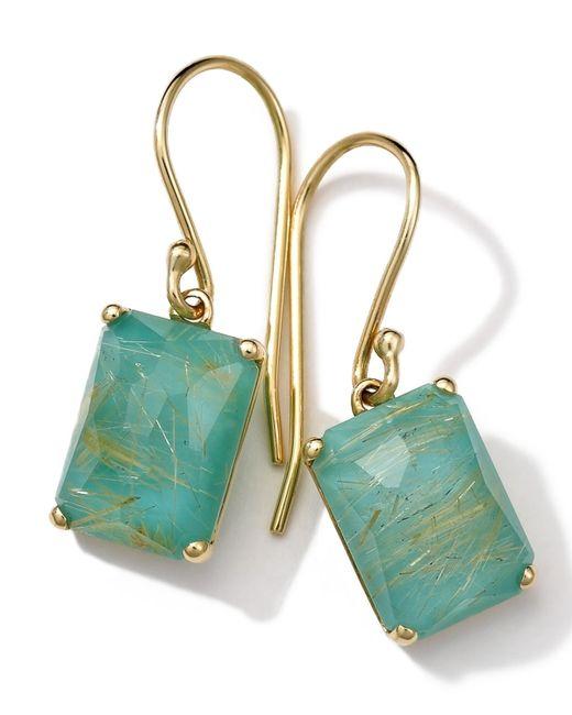 Ippolita | Green 18k Gold Rock Candy Gelato Single Rectangle Drop Earrings | Lyst