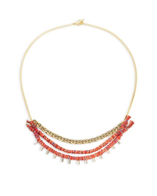 Serefina | Yellow Jeweled Hemp Collar Necklace | Lyst