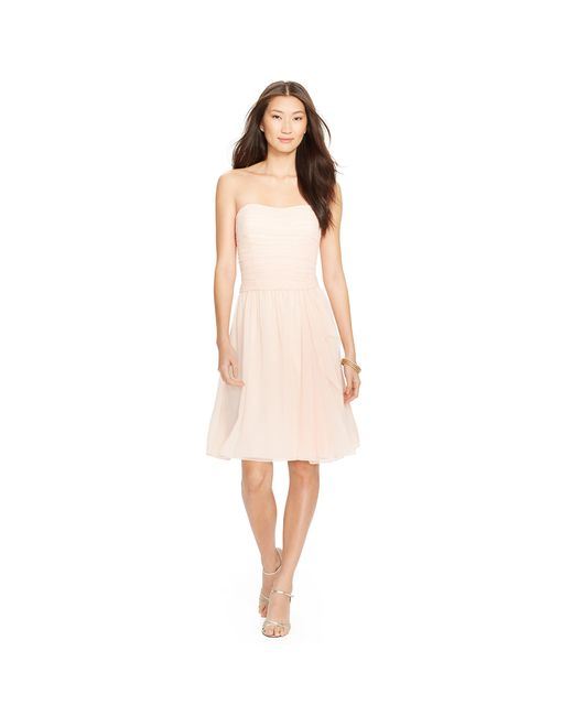 Pink Pony   Pink Shirred-bodice Dress   Lyst