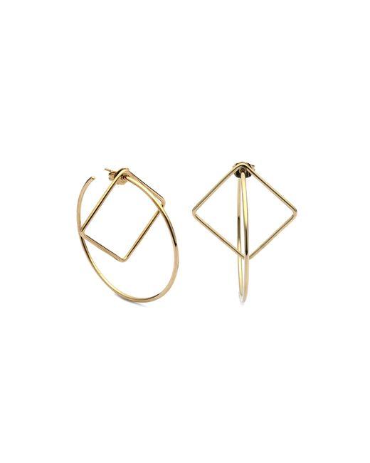 Caterina Zangrando | Metallic Pan Geo Gold Plated Earrings | Lyst