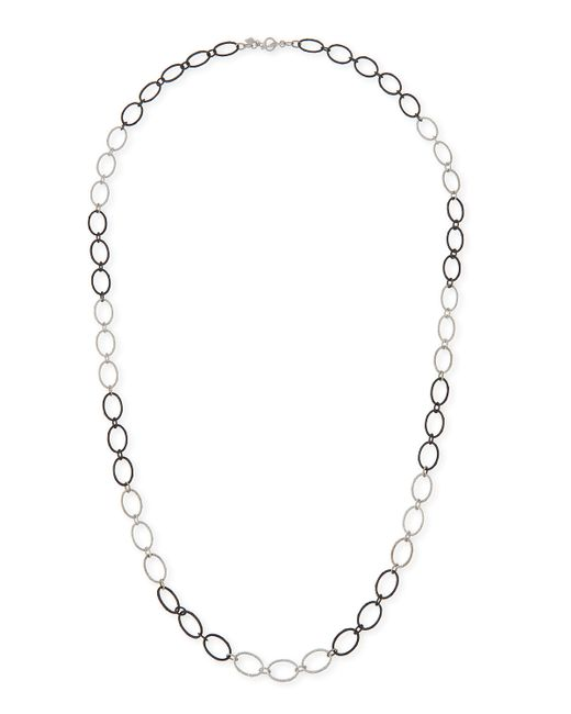 Armenta | Metallic New World Large Silver Oval Link Necklace | Lyst