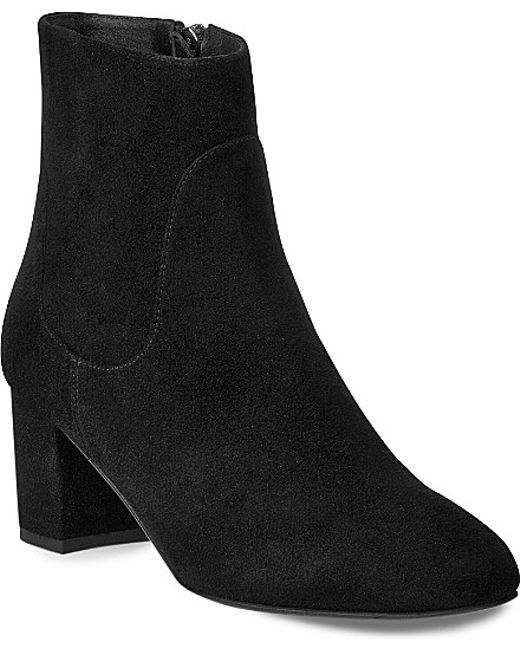 L.K.Bennett | Black Simi Suede Boots | Lyst