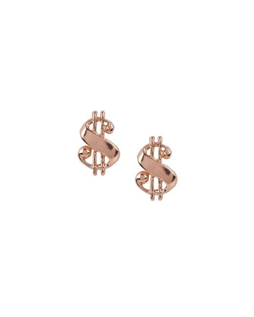 Bing Bang | Pink Baller Money Sign Studs | Lyst