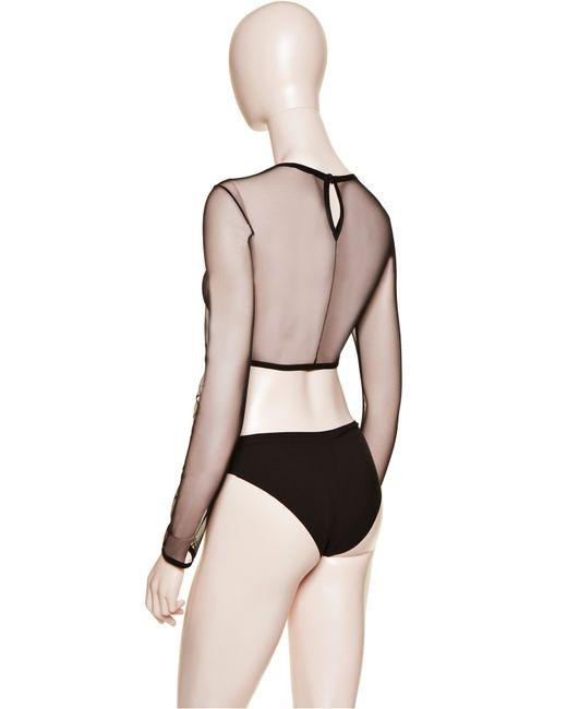 La Perla   Black Long-sleeved Top   Lyst