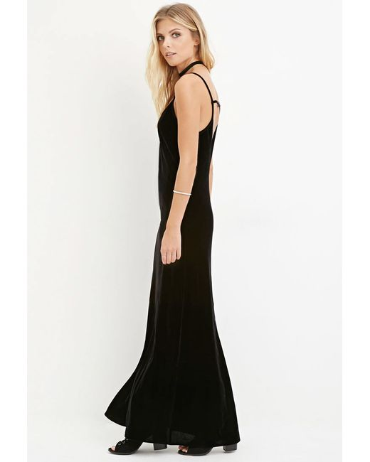 Forever 21 | Black Velvet Cami Dress | Lyst