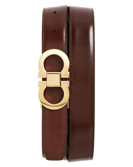 Ferragamo | Brown Reversible Belt for Men | Lyst