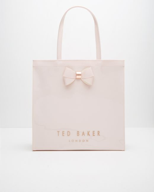 Ted Baker Bow Detail Large Shopper Bag In Pink Baby Pink