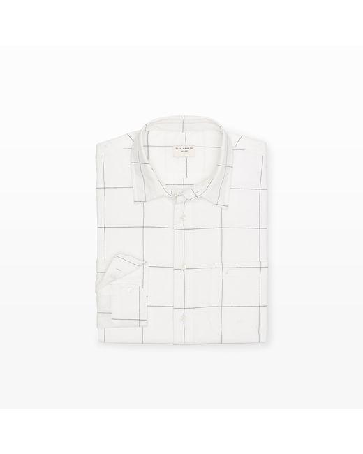 Club Monaco | White Slim-fit Windowpane Shirt for Men | Lyst