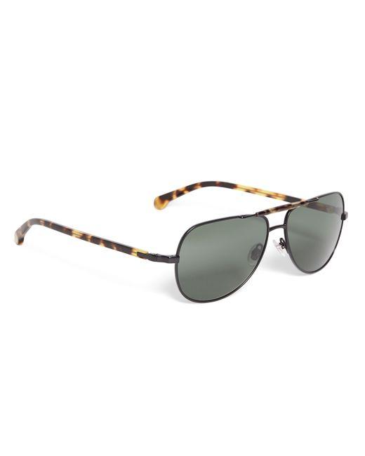 Brooks Brothers | Yellow Aviator Sunglasses | Lyst