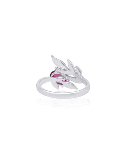 Katherine Jetter | Purple Pink Tourmaline River Bed Fern Ring | Lyst