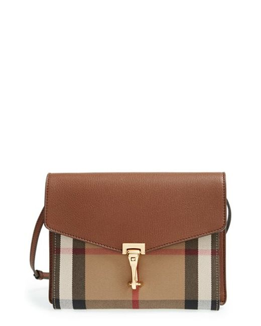 Burberry | Brown Small Macken Cross-Body Bag | Lyst