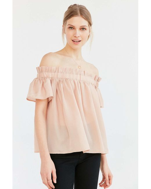 Off The Shoulder Ruffle Blouse 81