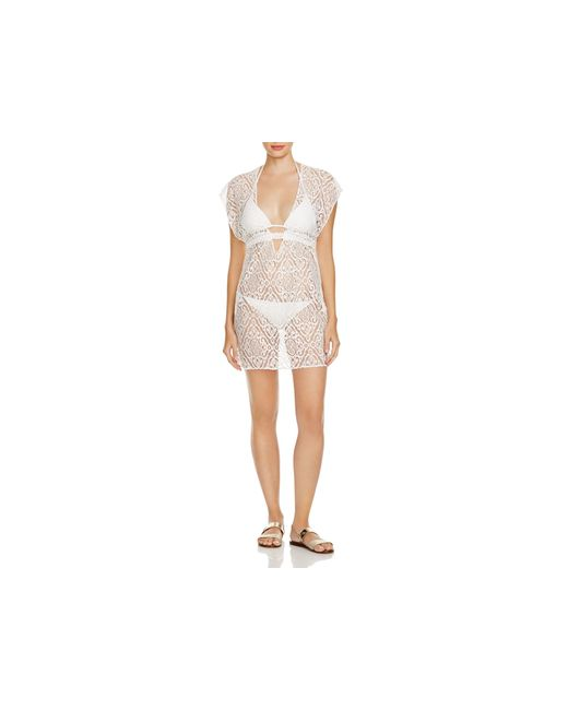 Becca | White Amore Lace Tunic Swim Cover Up | Lyst