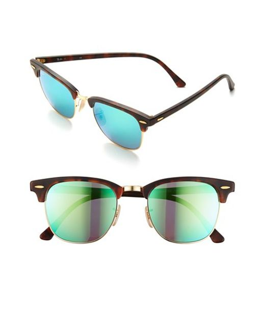 Ray-Ban | Brown 'flash Clubmaster' 51mm Sunglasses for Men | Lyst