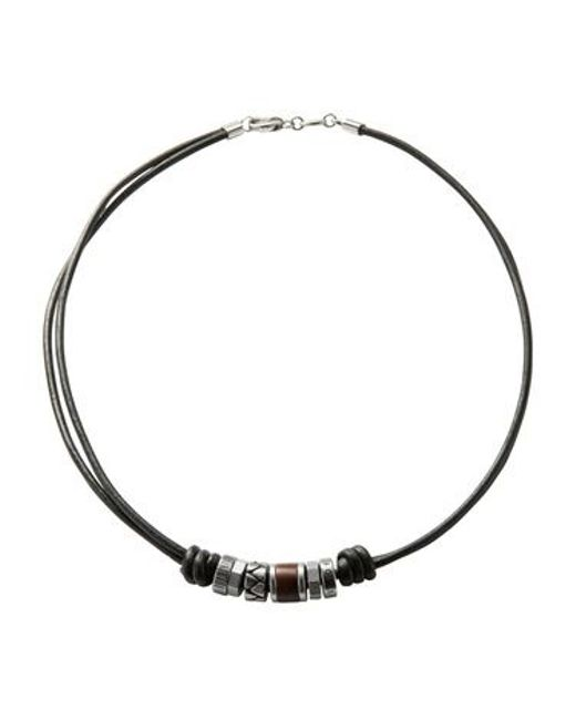 Fossil | Black Jf84068040 Mens Necklace for Men | Lyst