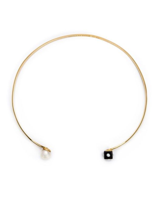 Nektar De Stagni | Metallic Pearl And Onyx Choker | Lyst