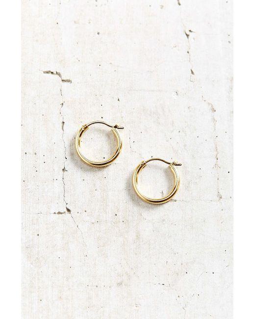 Urban Outfitters | Metallic Simple Hoop Earring | Lyst