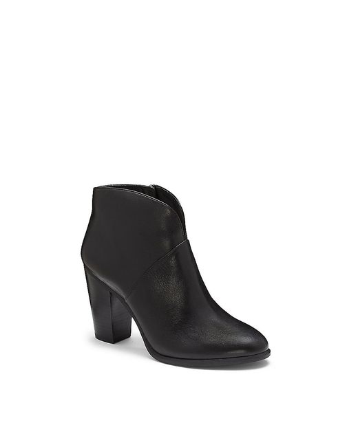 Vince Camuto Franell Notched Block Heel Bootie In Black