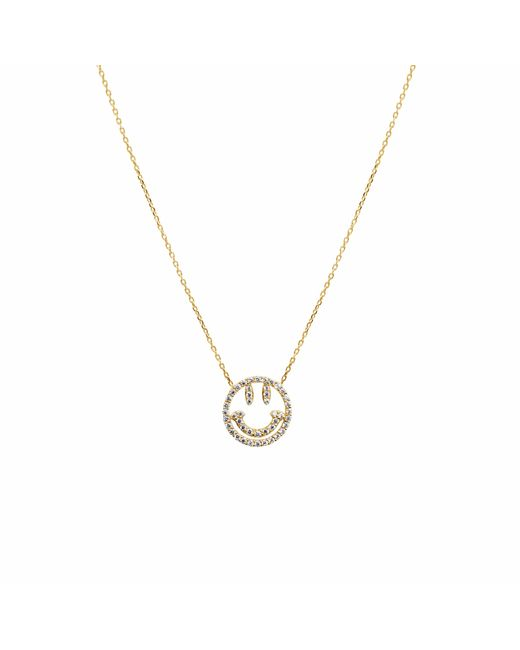 Talia Naomi | Metallic Why So Serious Necklace Gold | Lyst