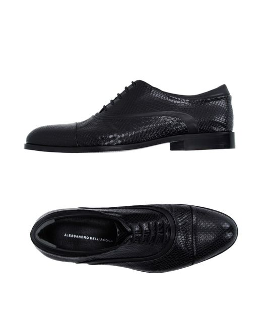 Alessandro Dell'acqua | Black Lace-up Shoes for Men | Lyst