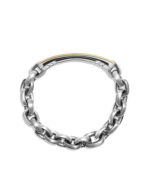 David Yurman | Metallic Streamline Id Bracelet With 18k Gold for Men | Lyst