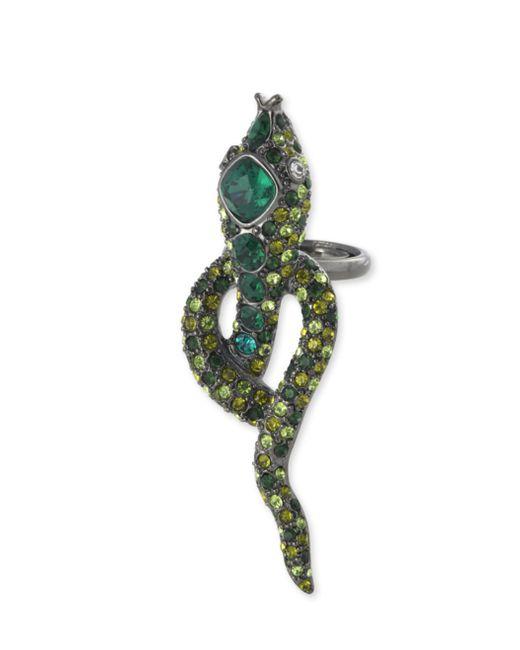 Kenneth Jay Lane | Multicolor Multi-green Snake Ring | Lyst
