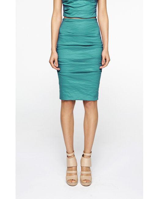 Nicole Miller | Blue Sandy Skirt | Lyst