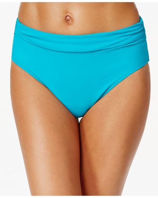 Gottex High-waist Ruched Bikini Bottom in Blue (Peacock ...