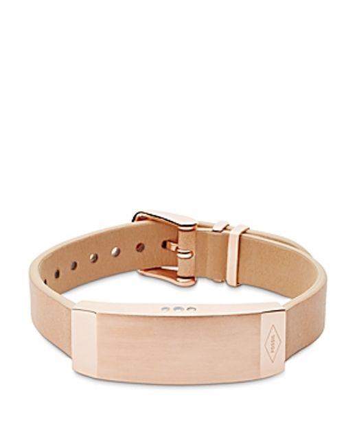 fossil q reveler fitness tracker bracelet in pink black silver lyst. Black Bedroom Furniture Sets. Home Design Ideas