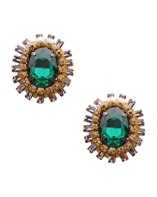 Deepa Gurnani   Green Earrings   Lyst